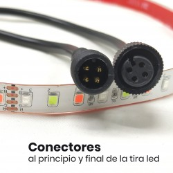 KIT Tira LED RGB Rollo de 5m Directa a 220v con Controlador y Mando 5