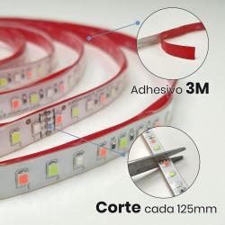 KIT Tira LED RGB Rollo de 5m Directa a 220v con Controlador y Mando 6