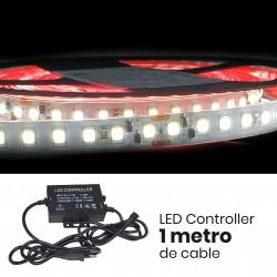 KIT Completo Tira LED Rollo de 5m Directa a 220v con Controlador y Mando 11