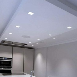 1198 - LED PANEL RECESSED SQUARE SILVER 18W - 06a