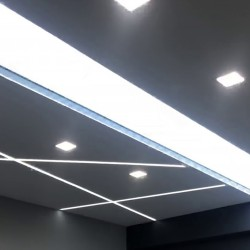 1198 - LED PANEL RECESSED SQUARE SILVER 18W - 07