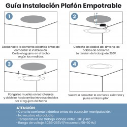 1552 - DOWNLIGHT ROUND 32W INSTALACION