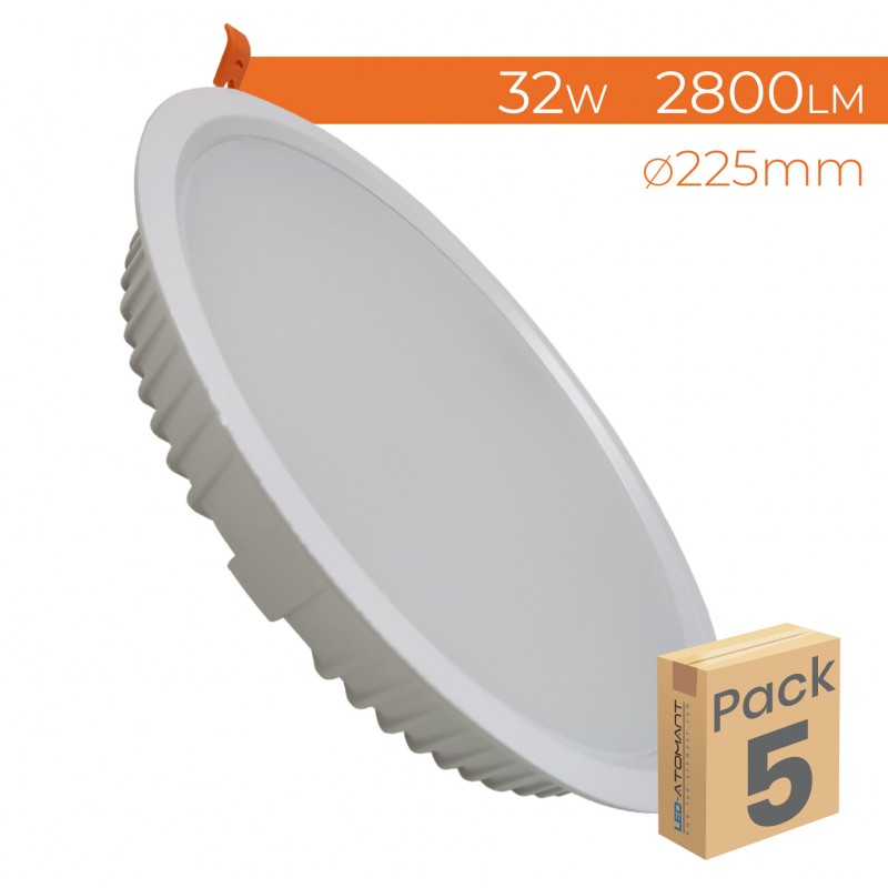 1552 - DOWNLIGHT ROUND 32W - PACK5