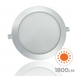 605 - LED PANEL RECESSED ROUND SILVER 20W - 02