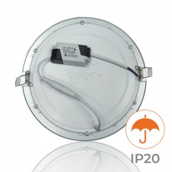 605 - LED PANEL RECESSED ROUND SILVER 20W - 03