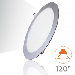605 - LED PANEL RECESSED ROUND SILVER 20W - 04