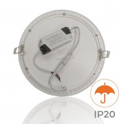 462 - LED PANEL RECESSED ROUND 12W - 03