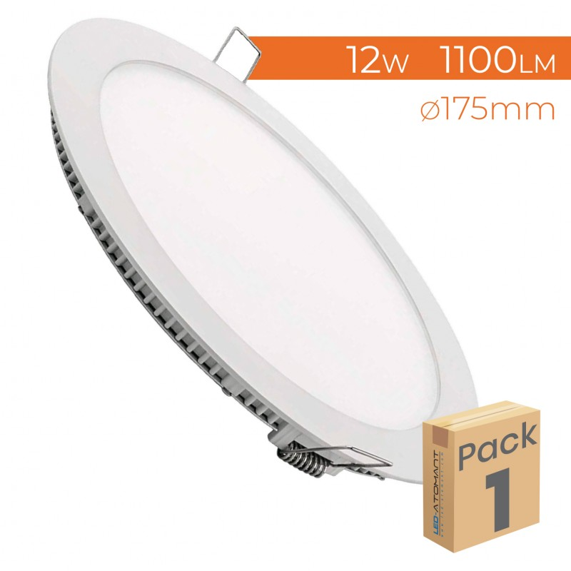 462 - LED PANEL RECESSED ROUND 12W - PACK1