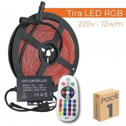 1752 - LED STRIP 220V RGB - PACK01